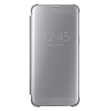 Samsung Clear View Cover Argent Samsung Galaxy S7 Edge Etui à rabat avec affichage date/heure pour Samsung Galaxy S7 Edge