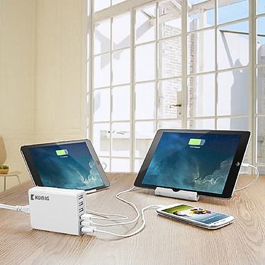 Multi chargeur USB 10A 50W (6 ports) pas cher