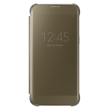 Samsung Clear View Cover Or Samsung Galaxy S7 Etui à rabat avec affichage date/heure pour Samsung Galaxy S7