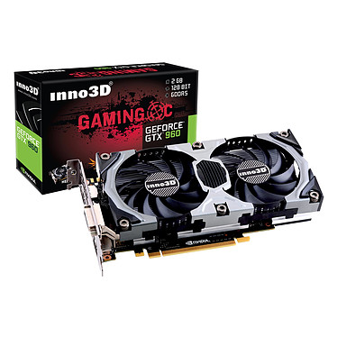 Inno3D GeForce GTX960 2GB OC 2048 Mo DVI/HDMI/Tri-DisplayPort - PCI Express (NVIDIA GeForce avec CUDA GTX 960)