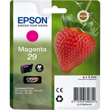 Epson 29 Magenta Cartouche d'encre Magenta (3.2 ml / 180 pages)