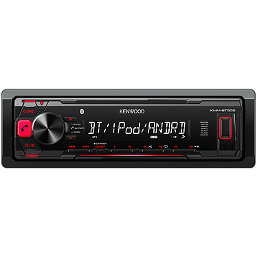 Kenwood KMM-BT302 Autoradio MP3 avec écran LCD port USB pour iPod / iPhone / smartphone, Bluetooth et entrée AUX