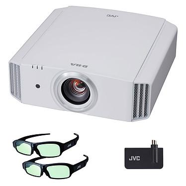 JVC DLA-X5000 Blanc + Kit 3D Vidéoprojecteur UHD 4K 1700 Lumens - Lens Shift + Kit 3D avec émetteur 3D RF et 2 paires de lunettes 3D RF