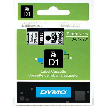 DYMO Cinta D1 estándar - negro/transparente 9 mm x 7 m