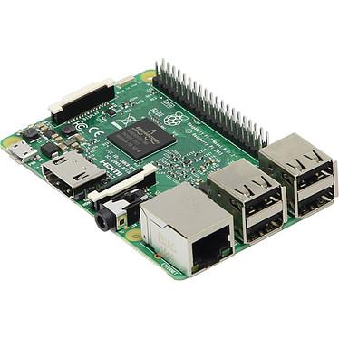 Raspberry Pi 3 Model B Carte mère ultra-compacte avec processeur ARM Cortex-A53 Quad-Core - RAM 1 Go - VideoCore IV - HDMI - 4x USB 2.0 - RJ45 - Wi-Fi N - Bluetooth 4.1