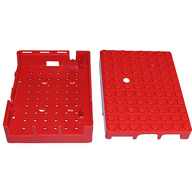 Acheter Multicomp Pi-Blox boitier pour Raspberry Pi 1 Model B+ / Pi 2/3 (rouge)