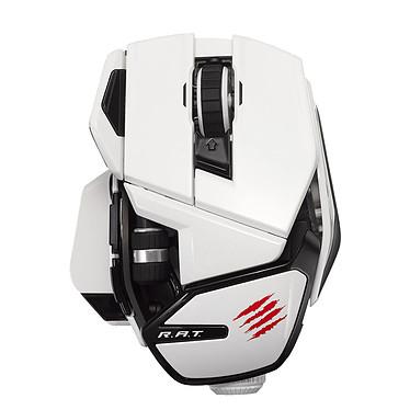 Mad Catz Office R.A.T. (RAT) White Souris sans fil - Droitier - Capteur laser - 10 boutons - Modulable