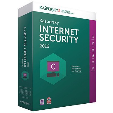 Kaspersky Internet Security 2016 - Licence 2 postes 1 an