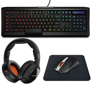 SteelSeries Wireless Dream Pack Ensemble gaming complet (clavier Apex M800 + sac Apex Bag + souris Sensei Wireless + tapis DeX + casque Siberia 800)
