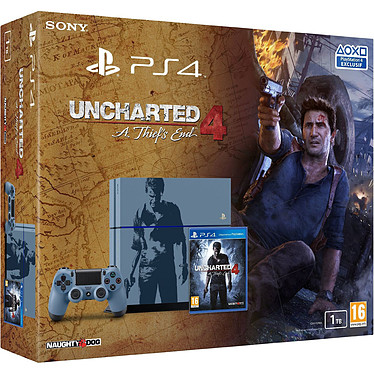 "Sony PlayStation 4 Limited Edition (1 To) + Uncharted 4 : A Thief's End Console de jeux-vidéo nouvelle génération (édition ""Collector"" limitée !) avec disque dur 1 To et manette sans fil + 1 jeu"