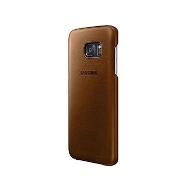 Samsung Coque Cuir Marron Samsung Galaxy S7 Edge Coque en cuir pour Samsung Galaxy S7 Edge