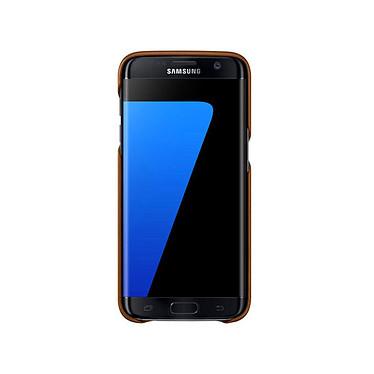 Avis Samsung Coque Cuir Marron Samsung Galaxy S7 Edge