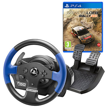 Thrustmaster T150 Force Feedback + Sébastien Loeb (PS4) OFFERT ! Ensemble volant à retour de force + pédalier compatible PC / PlayStation 3 (PS3) / PlayStation 4 (PS4) + Jeu (PS4)