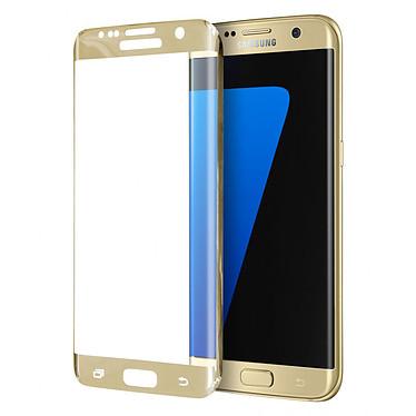 Moxie Protection en Verre Incurvé Galaxy S7 Edge Or Film de protection incurvé en verre trempé 2.5D pour Samsung Galaxy S7 Edge Or