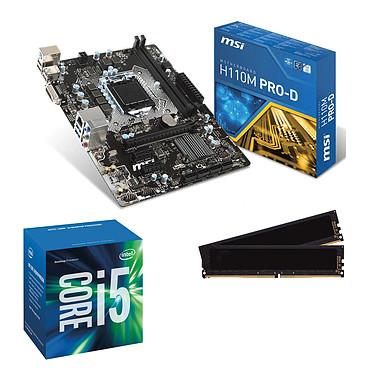 Kit Upgrade PC Core i5 MSI H110M PRO-D 8 Go Carte mère Micro ATX Socket 1151 Intel H110 Express + CPU Intel Core i5-6500 (3.2 GHz) + RAM 8 Go DDR4