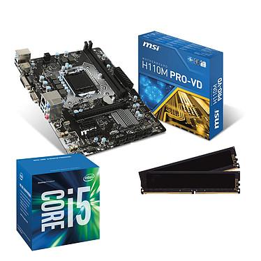 Kit Upgrade PC Core i5 MSI H110M PRO-VD 8 Go Carte mère Micro ATX Socket 1151 Intel H110 Express + CPU Intel Core i5-6500 (3.2 GHz) + RAM 8 Go DDR4