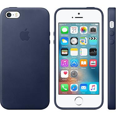 Apple Funda de piel Apple Azul Apple iPhone SE Funda de piel para Apple iPhone SE