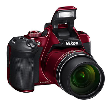 "Nikon Coolpix B700 Rouge Appareil photo 20.3 MP - Zoom optique 60x - Vidéo 4K UHD/30P - HDMI - USB - Ecran ACL 3"" orientable - Wi-Fi - Bluetooth 4.1"