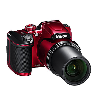 "Nikon Coolpix B500 Rouge Appareil photo 16 MP - Zoom optique 40x - Vidéo Full HD - HDMI - USB - Ecran ACL 3"" inclinable - Wi-Fi - Bluetooth 4.1"