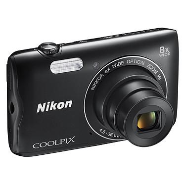 "Nikon Coolpix A300 Noir Appareil photo 20.1 MP - Zoom optique 8x - Vidéo HD - USB - Ecran ACL TFT 2.7"" - Wi-Fi - Bluetooth 4.1"