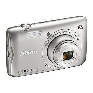"""Nikon Coolpix A300 plata Cámara de 20,1 MP - Zoom óptico 8x - Vídeo HD - USB - Monitor LCD TFT de 2,7"""" - Wi-Fi - Bluetooth 4.1"""