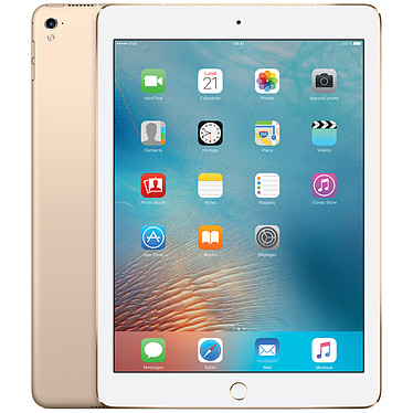"Apple iPad Pro 9.7"" Wi-Fi + Cellular 256 Go Or Tablette Internet - Apple A9X 2 Go 256 Go 9.7"" LED tactile Wi-Fi AC/Bluetooth/4G Webcam iOS 9"