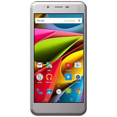 "Archos 50 Cobalt Gris Smartphone 4G-LTE Dual SIM - ARM Cortex-A53 Quad-Core 1 GHz - RAM 1 Go - Ecran tactile 5"" 720 x 1280 - 8 Go - Bluetooth 4.0 - 2000 mAh - Android 5.1"