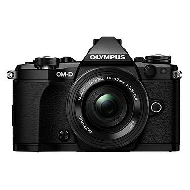 "Olympus E-M5 MK II Noir + M.ZUIKO DIGITAL ED 14-42mm Appareil photo hybride 16.1 MP - Ecran LCD tactile orientable 3"" - Vidéo Full HD - Stabilisation 5 axes - Wi-Fi + Objectif ED 14-42mm 1:3.5-5.6 EZ Pancake"