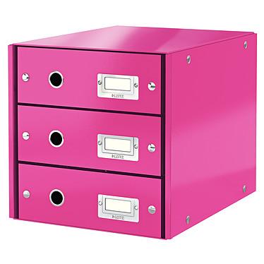 Leitz Bloc de classement à tiroirs Leitz Click & Store Rose Bloc de classement 3 tiroirs fermés 24 x 32 cm coloris Rose