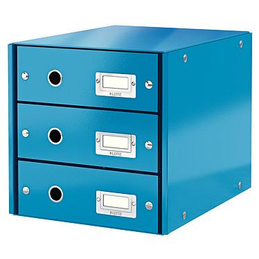 Leitz Bloc de classement à tiroirs Leitz Click & Store Bleu Bloc de classement 3 tiroirs fermés 24 x 32 cm coloris Bleu