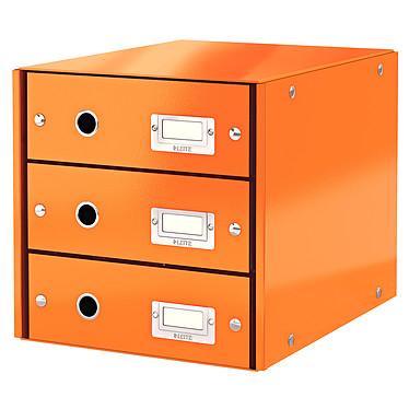 Leitz Bloc de classement à tiroirs Leitz Click & Store Orange Bloc de classement 3 tiroirs fermés 24 x 32 cm coloris Orange