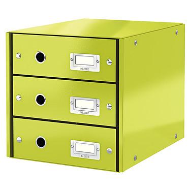 Leitz Bloc de classement à tiroirs Leitz Click & Store Vert Bloc de classement 3 tiroirs fermés 24 x 32 cm coloris Vert