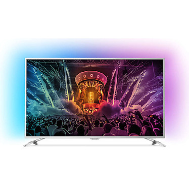 "Philips 65PUS6521 Téléviseur LED 4K 65"" (165 cm) 16/9 - 3840 x 2160 pixels - TNT, Câble et Satellite HD - Ultra HD 2160p - HDR - Wi-Fi - Android - 1800 Hz"