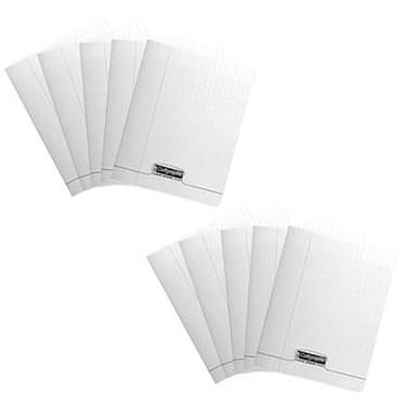 Calligraphe 8000 Polypro Cahier 96 pages 17 x 22 cm Seyes grands carreaux Incolore x 50 Lot de 50 cahiers 96 pages 90g A5+ en reliure piquée avec couverture en polypropylène