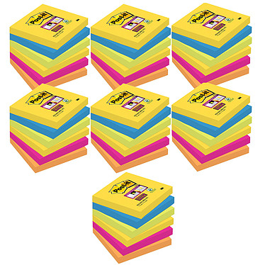 Post-it Bloc Super Sticky 90 feuillets 76 x 76 mm Rio X 42