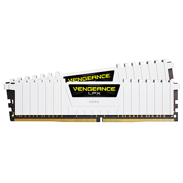 Corsair Vengeance LPX Series Low Profile 32 Go (2x 16 Go) DDR4 2666 MHz CL16  Kit Dual Channel 2 barrettes de RAM DDR4 PC4-21300 - CMK32GX4M2A2666C16W (garantie à vie par Corsair)