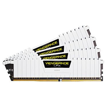 Corsair Vengeance LPX Series Low Profile 64 Go (4x 16 Go) DDR4 2666 MHz CL16  Kit Quad Channel 4 barrettes de RAM DDR4 PC4-21300 - CMK64GX4M4A2666C16W (garantie à vie par Corsair)
