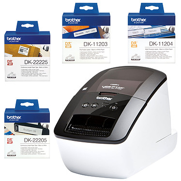 Brother QL-710W + 4 consommables