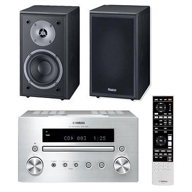 Yamaha CRX-550 Argent + Magnat Monitor Supreme 102 Noir