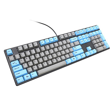 Avis Ducky Channel One (coloris gris/bleu - MX Black - touches PBT)
