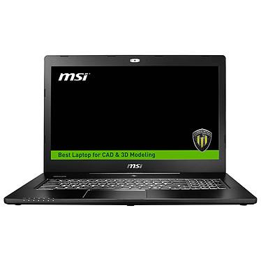 """MSI WS72 6QH-031FR Intel Core i7-6700HQ 8 Go 1 To 17.3"""" LED Full HD NVIDIA Quadro M600M Wi-Fi AC/Bluetooth Webcam Windows 10 Professionnel 64 bits (garantie constructeur 3 ans)"""