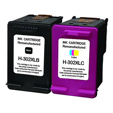Cartuchos compatibles con HP 302XL (negro + color)