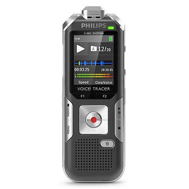 Philips DVT6000 Dictaphone numérique 4 Go avec trois microphones AutoZoom+ et slot MicroSD