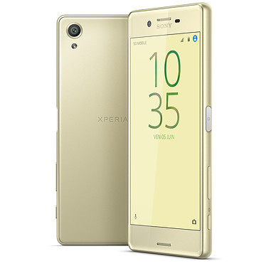 "Sony Xperia X Dual SIM 64 Go Or Lime Smartphone 4G-LTE Advanced Dual SIM - Snapdragon 650 6-Core 1.8 GHz - RAM 3 Go -  Ecran tactile 5"" 1080 x 1920 - 64 Go - NFC/Bluetooth 4.1 - 2620 mAh - Android 6.0"