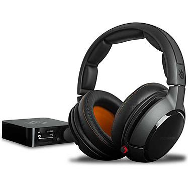 SteelSeries Siberia P800 Casque gaming sans fil - circum-aural fermé - son Dolby Virtual Surround 7.1 - microphone unidirectionnel rétractable avec suppression du bruit - boitier de contrôle et de charge avec écran OLED - Jack/USB/Toslink - compatible PlayStation 4 et PC