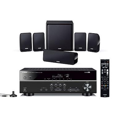 Yamaha RX-V381 Noir + Yamaha NS-P20 Ampli-tuner Home Cinéma 5.1 3D avec HDMI 2.0, HDCP 2.2, Ultra HD 4K et Bluetooth + Pack d'enceintes 5.1