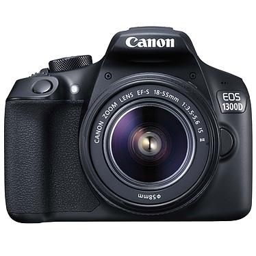 "Canon EOS 1300D + EF-S 18-55 mm IS II Reflex Numérique 18 MP - Ecran tactile 3"" - Vidéo Full HD - Wi-Fi - NFC + Objectif EF-S 18-55mm f/3.5-5.6 IS II"