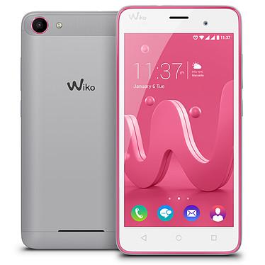 "Wiko Jerry Argent/Rose Smartphone 3G+ Dual SIM - ARM Cortex-A7 Quad-Core 1.3 GHz - RAM 1 Go - Ecran tactile 5"" 480 x 854 - 8 Go - Bluetooth 4.0 - 2000 mAh - Android 6.0"