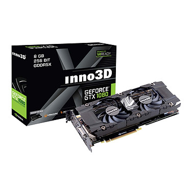 INNO3D GeForce GTX 1080 TWIN X2 8192 Mo DVI/HDMI/Tri DisplayPort - PCI Express (NVIDIA GeForce avec CUDA GTX 1080)