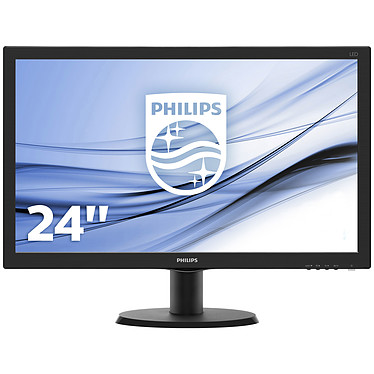 """Philips 23.6"""" LED - 243V5LHSB 1920 x 1080 pixels - 1 ms (gris à gris) - Format large 16/9 - HDMI - Noir"""